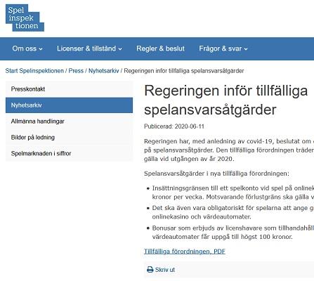 Nätcasinon i Sverige påverkas av nya bonusregler!